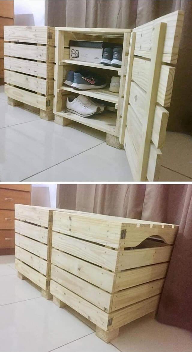 pallet side cabinet ideas