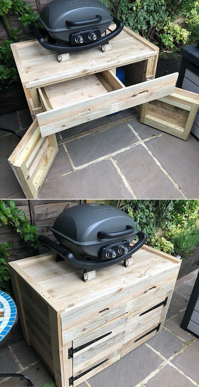Mind blowing outdoor pallet garden table ideas