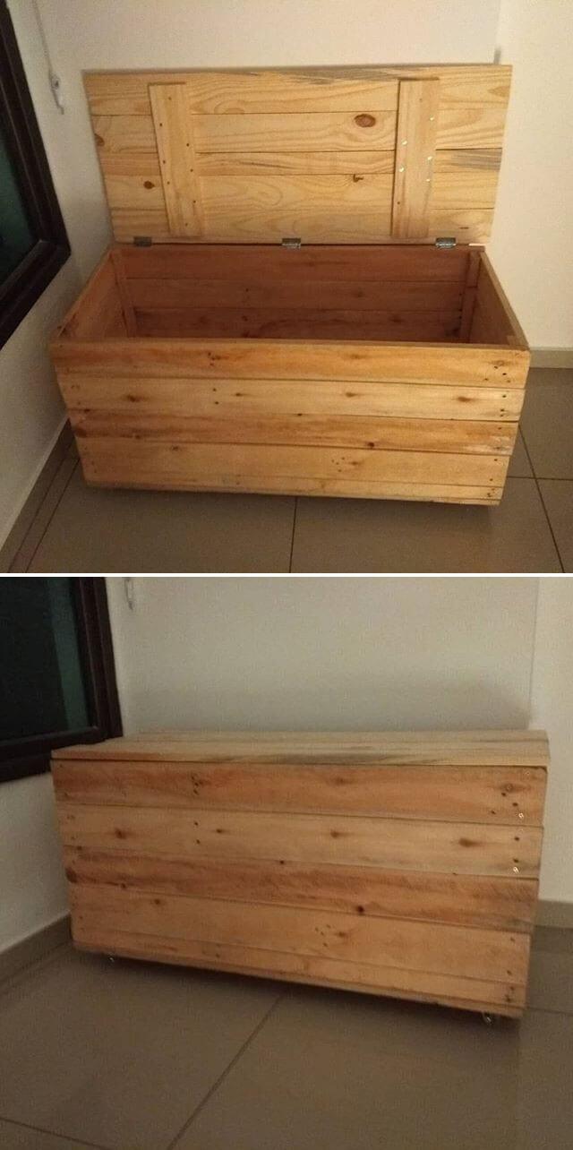 diy pallet storage box ideas