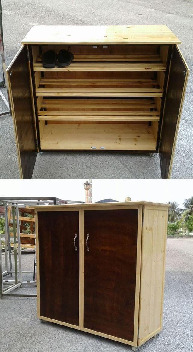 Classy pallet cabinet project ideas