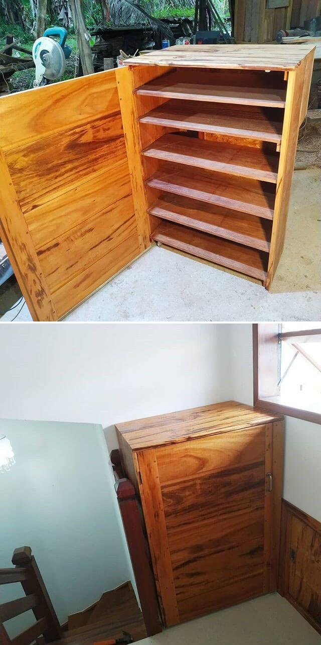 Creative pallet cabinet project ideas