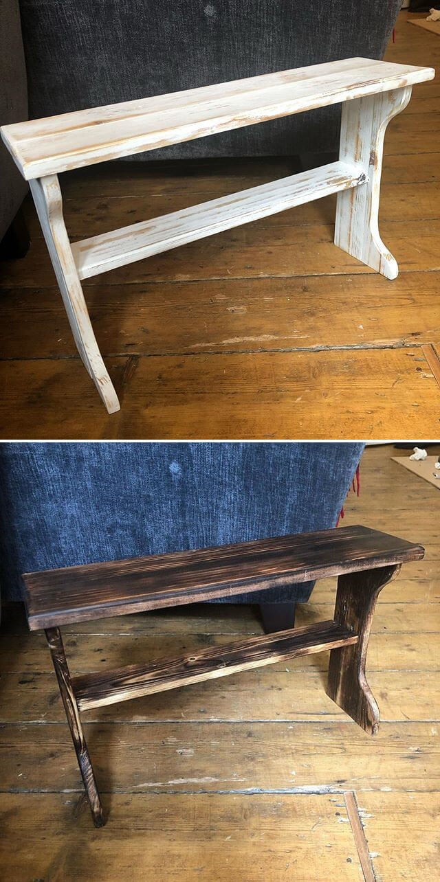 pallet side table project ideas