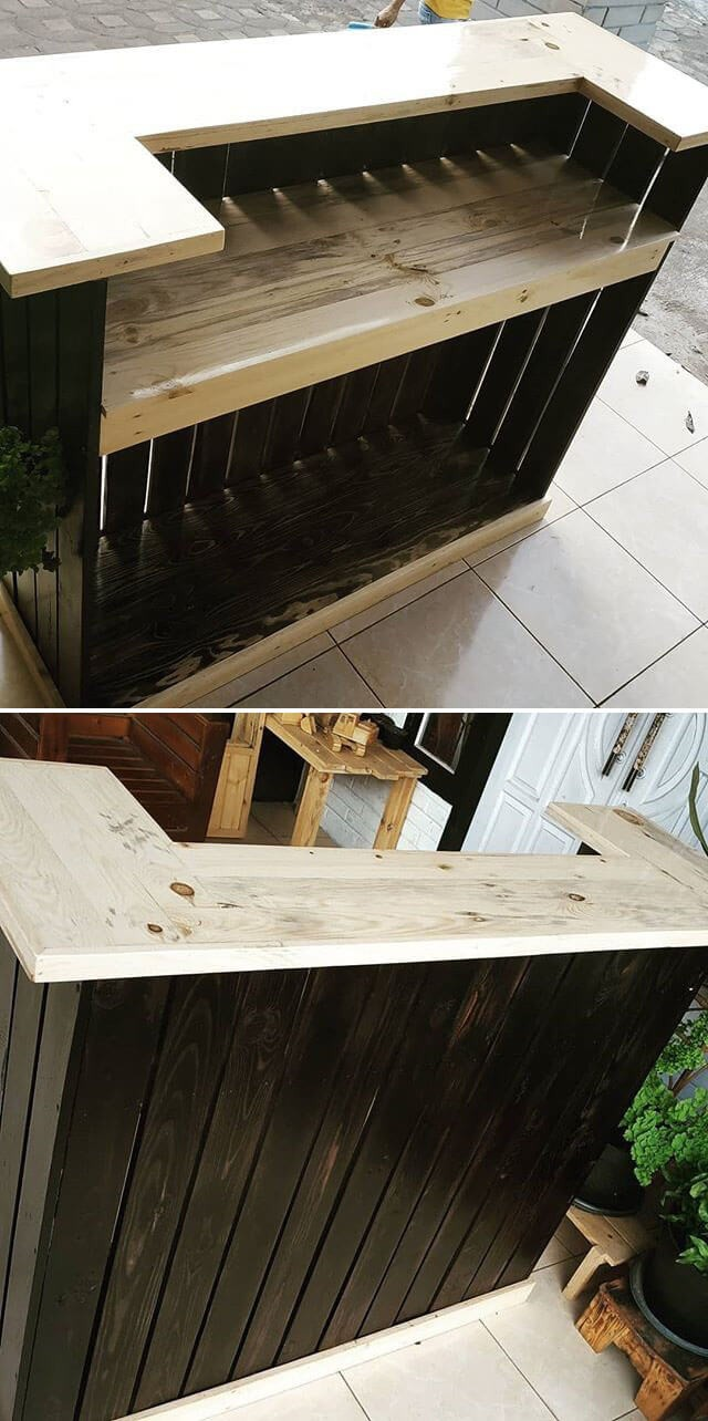 pallet bar ideas made from wood