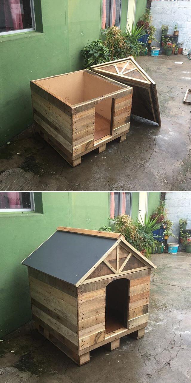 beautiful pallet pet house ideas