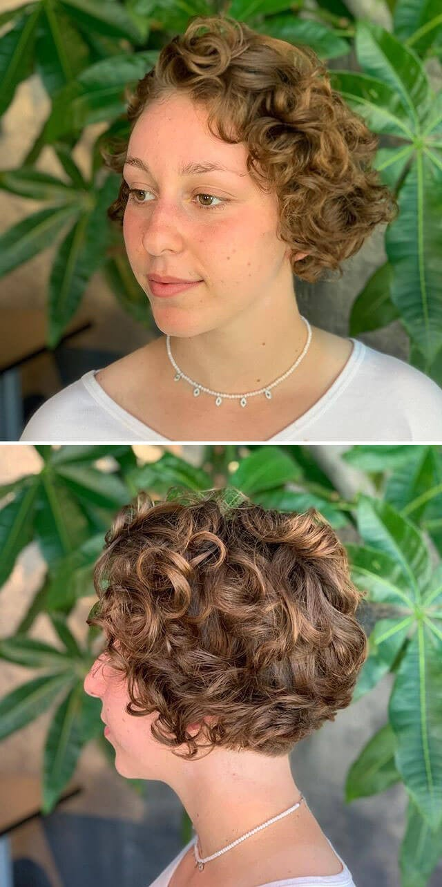 Layered Bob Short Curly Hairstyles