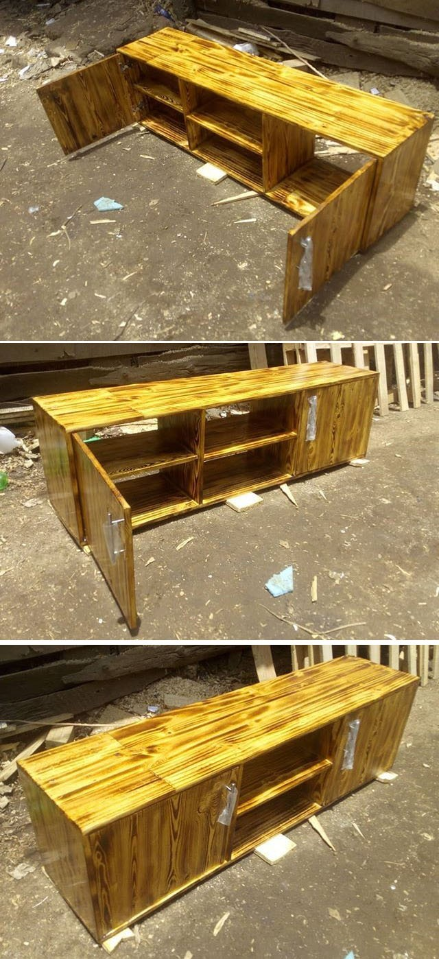 Pallet tv stand projects