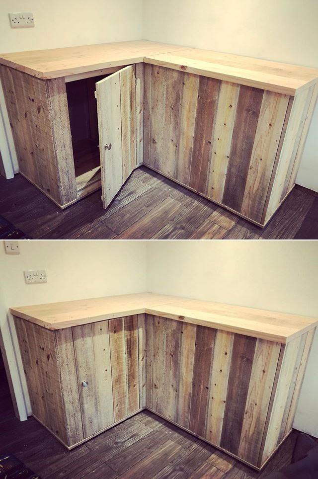 Pallet storage cabinets ideas