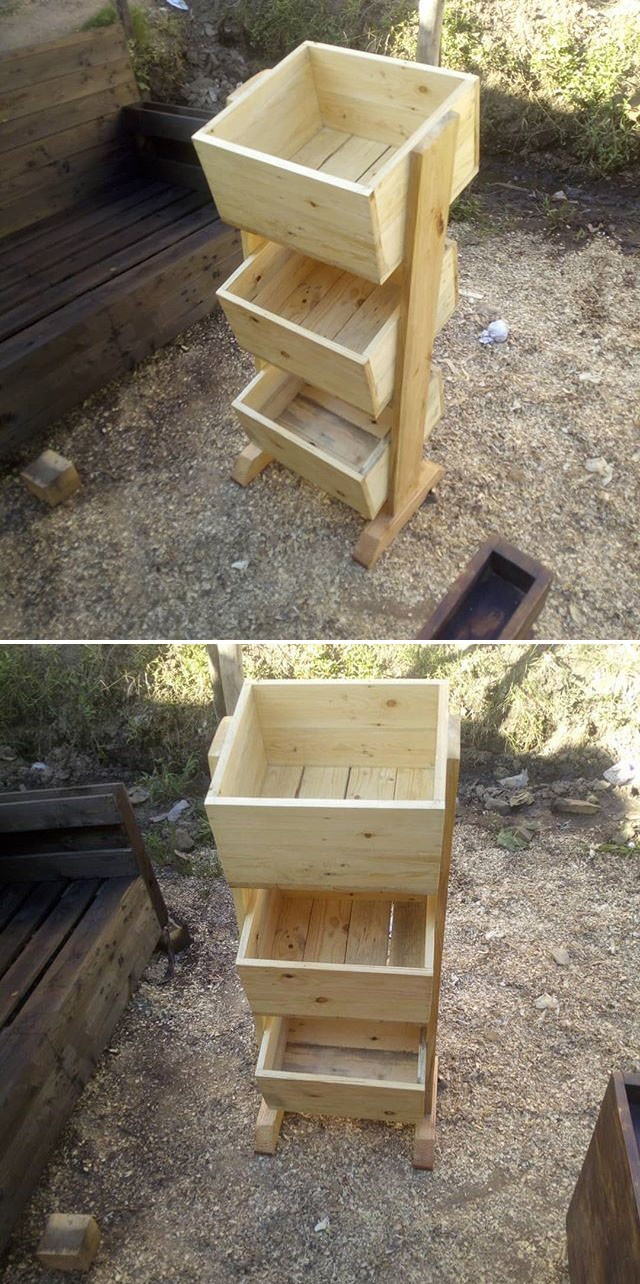 Pallet fruit rack projects