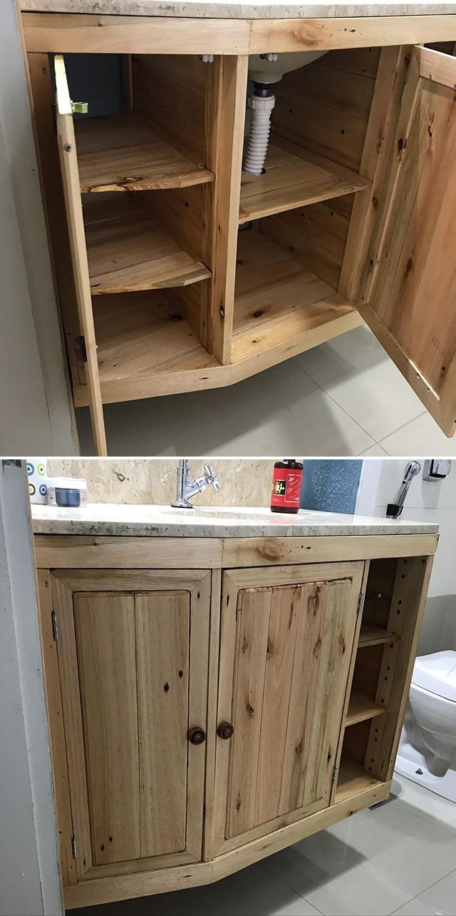 Pallet washroom cabinet ideas