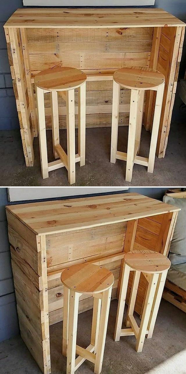 Pallet bar table furniture ideas