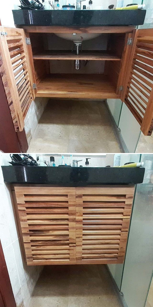 Pallet washroom cabinets ideas