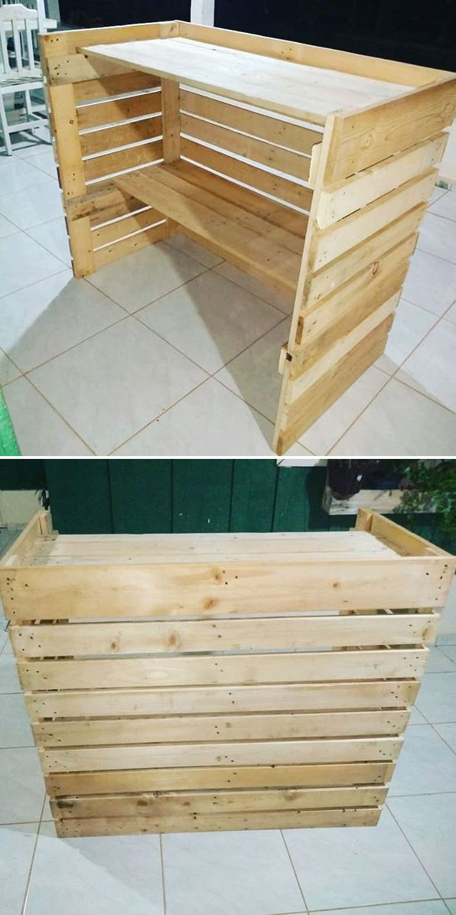Pallet outdoor bar ideas