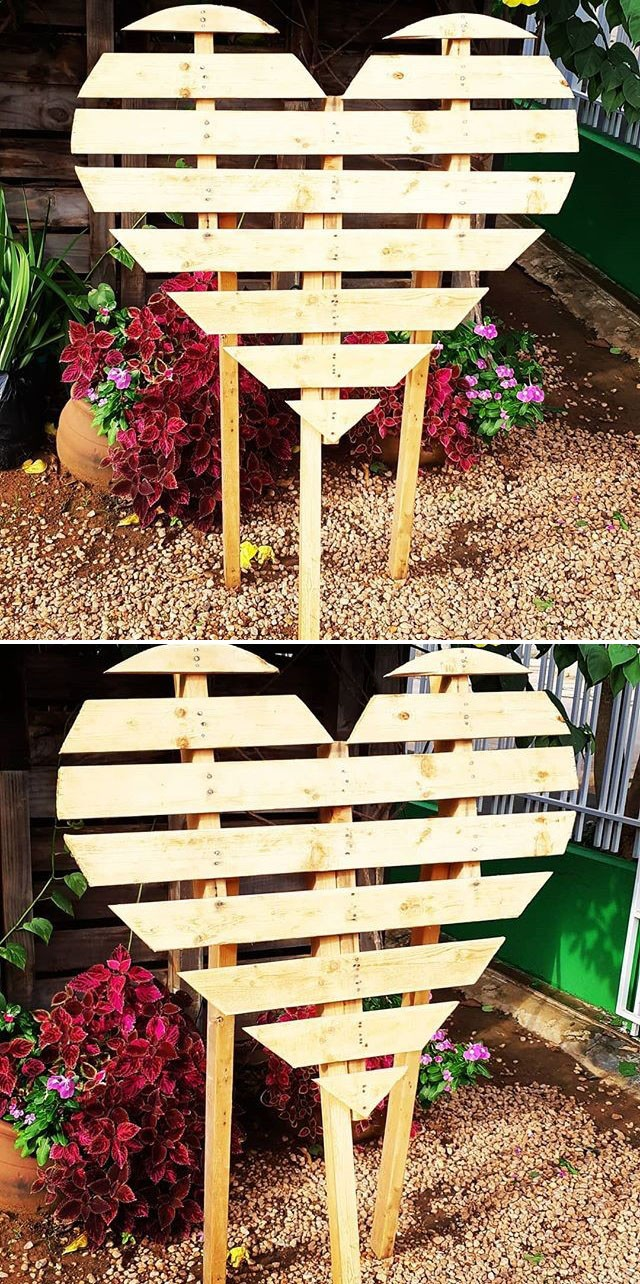Pallet heart wall art ideas