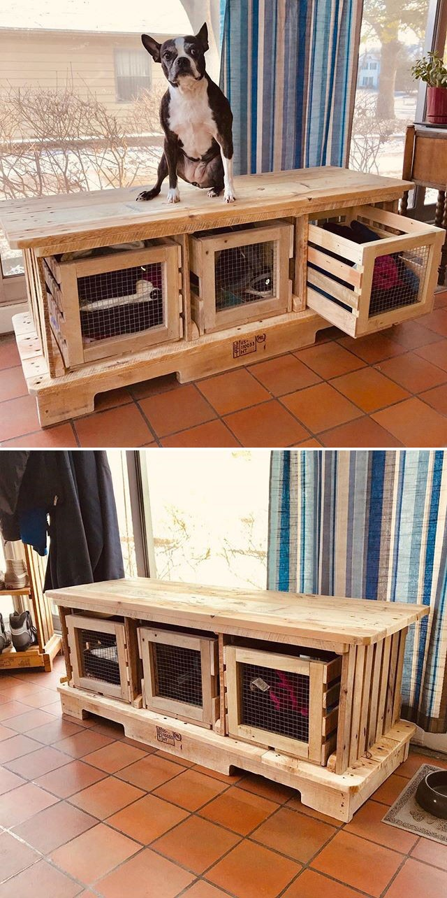 Pallet tv stand storage ideas