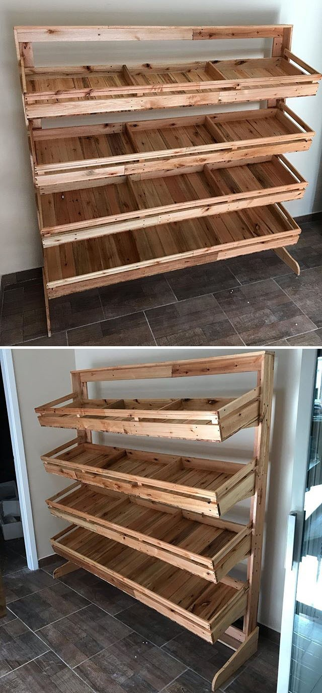 Pallet side rack ideas