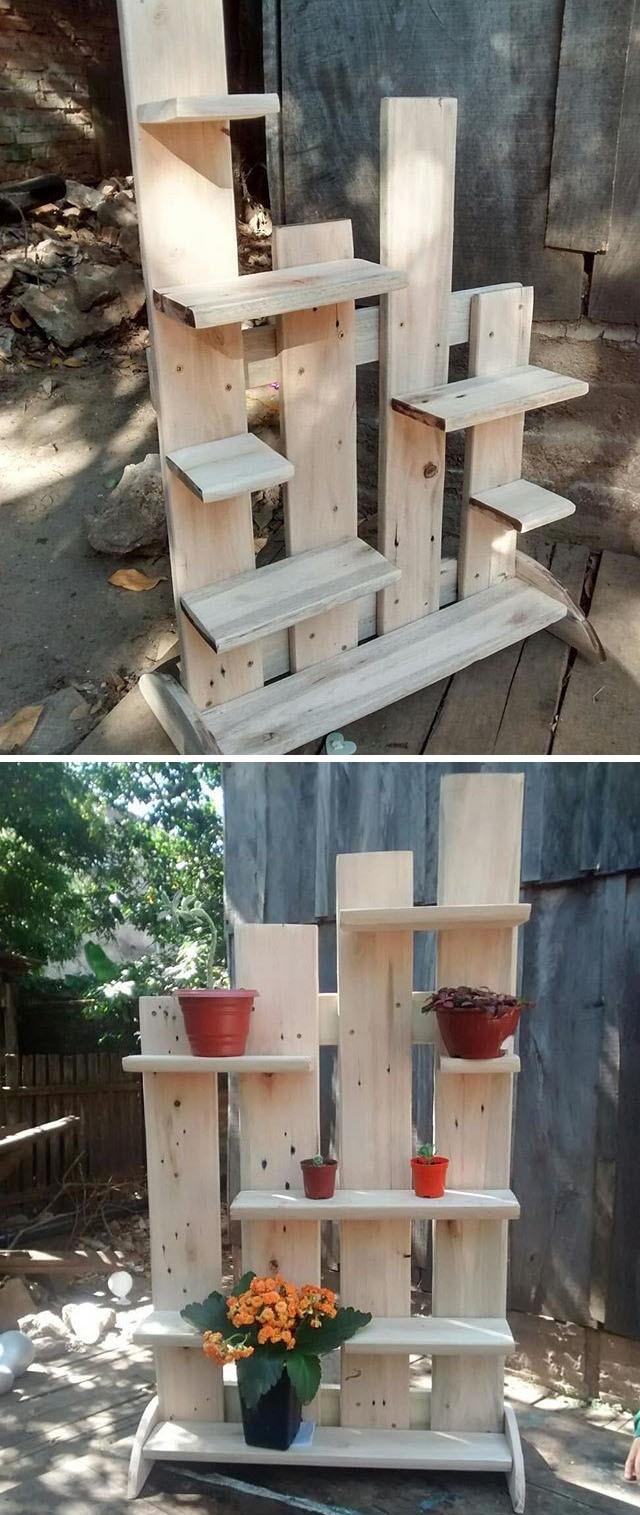 easy pallet shelf ideas