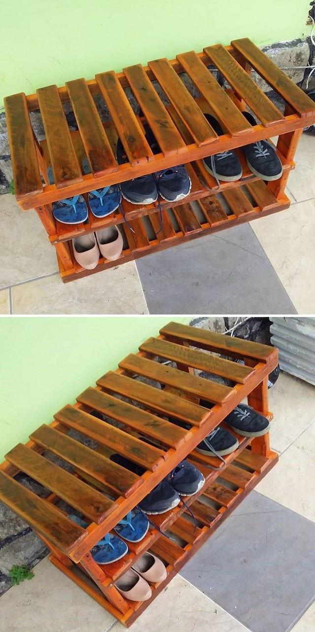pallet shoe table ideas