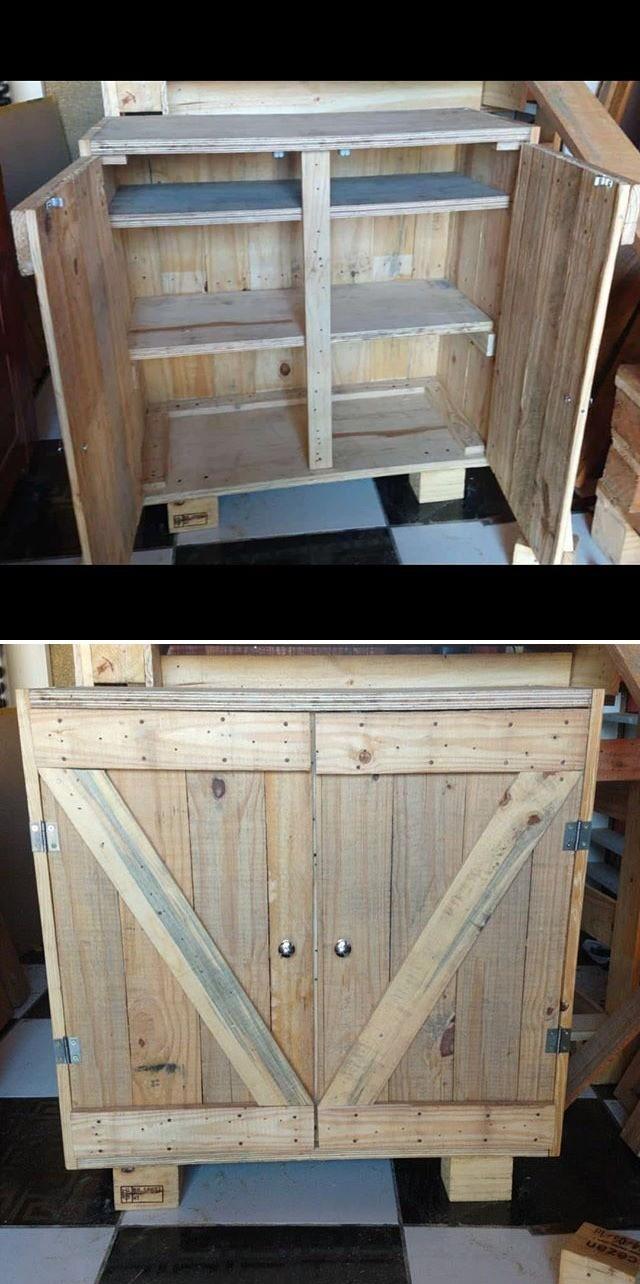 pallet cabinet ideas
