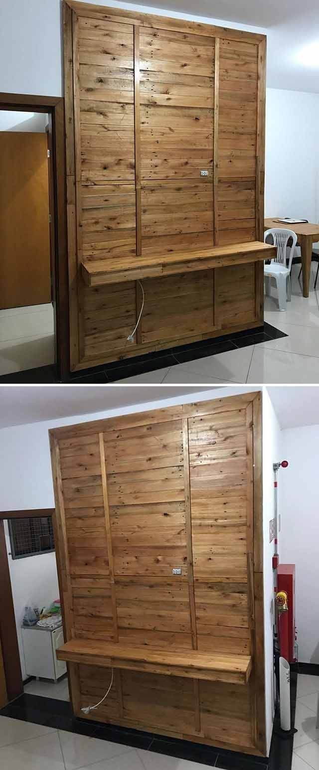 pallet wall shelf cabinet ideas