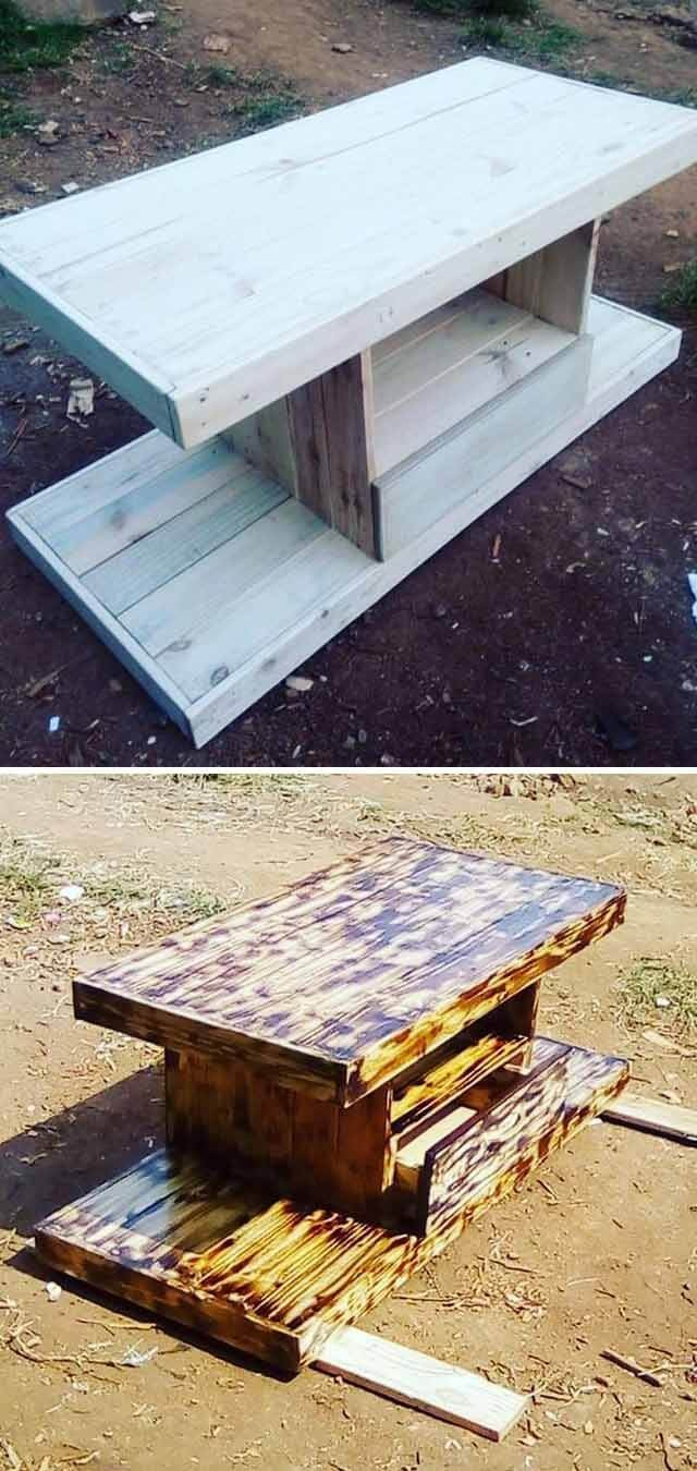 easy pallet side table project ideas