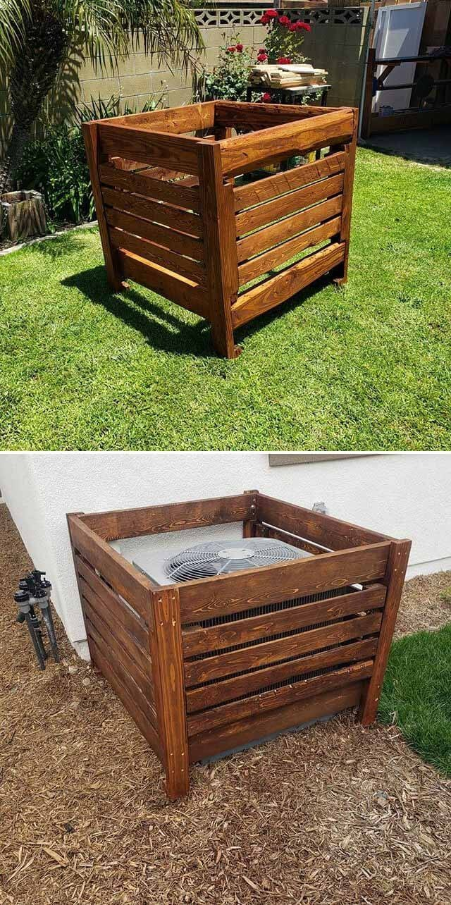 pallet storage planter box ideas
