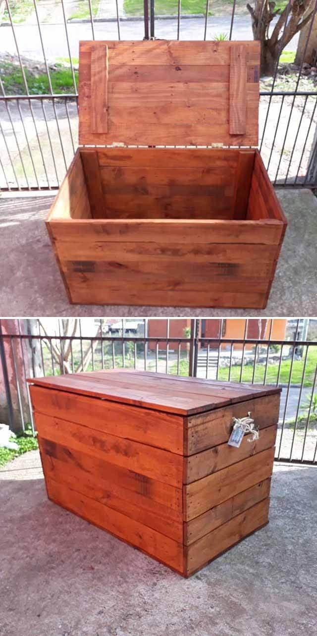 diy pallet storage box ideas