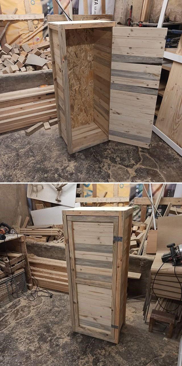 Pallet Storage cabinet ideas