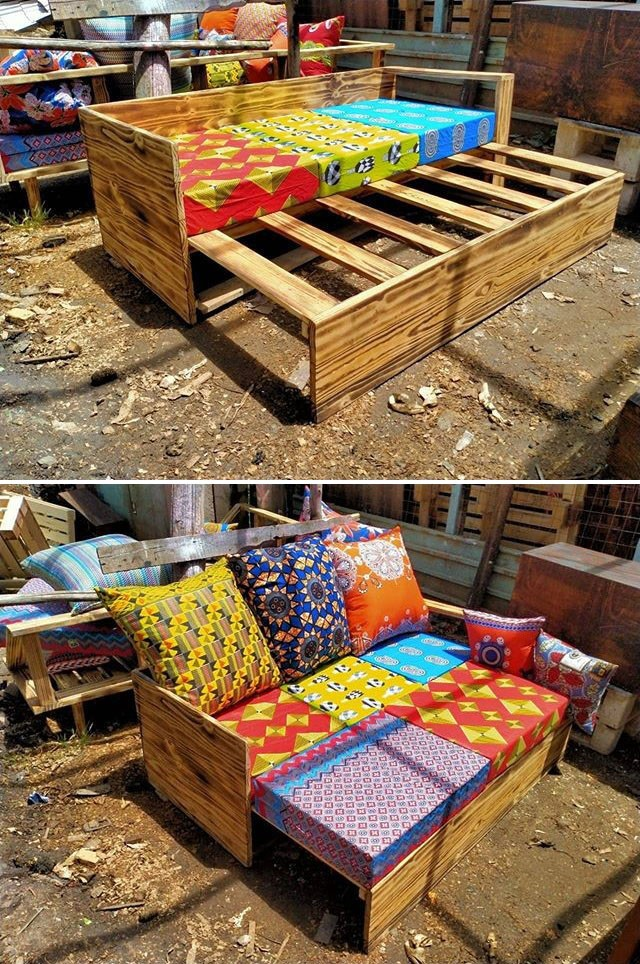 Pallet bed furniture ideas