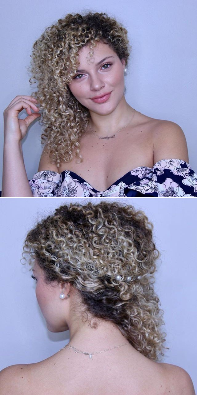 Creative curly medium hairstyles ideas