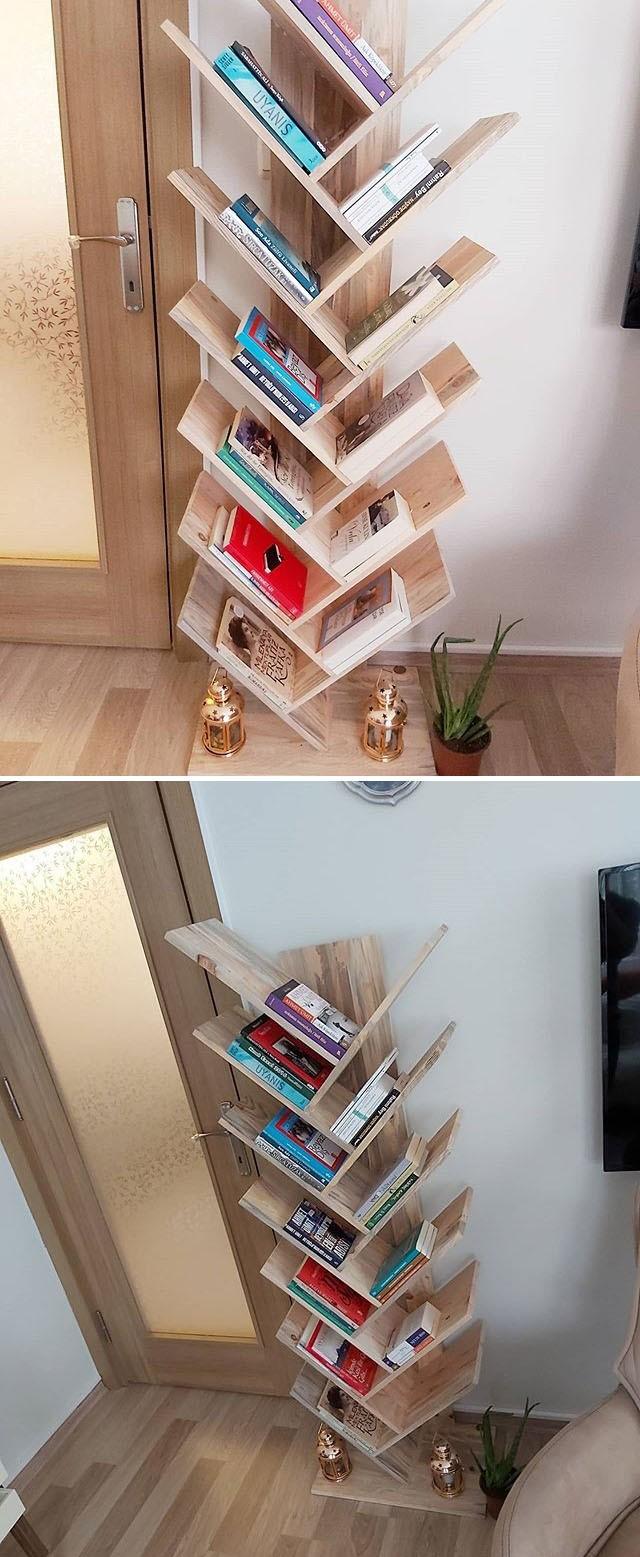 Pallet book shelf ideas