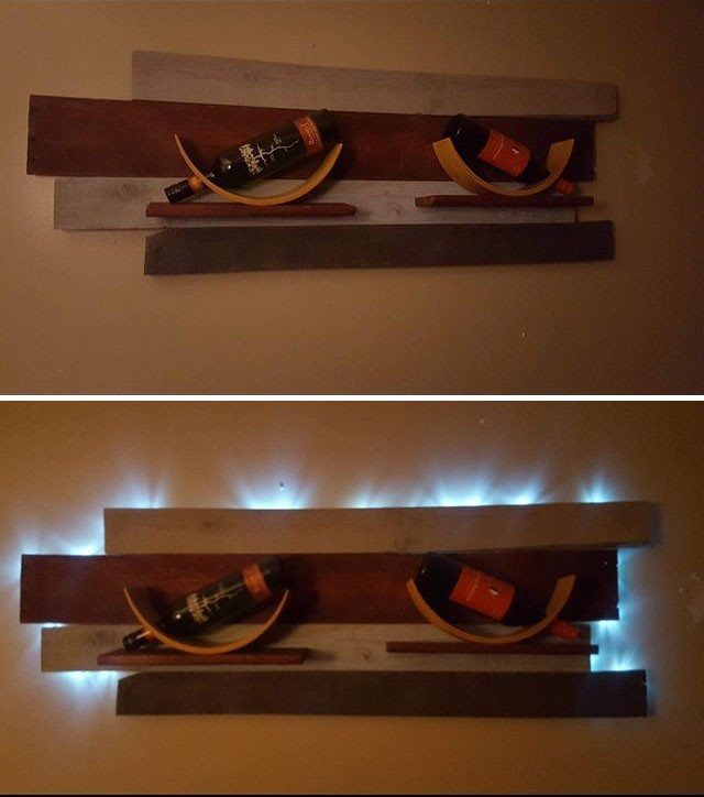 Pallet glowing wall art ideas