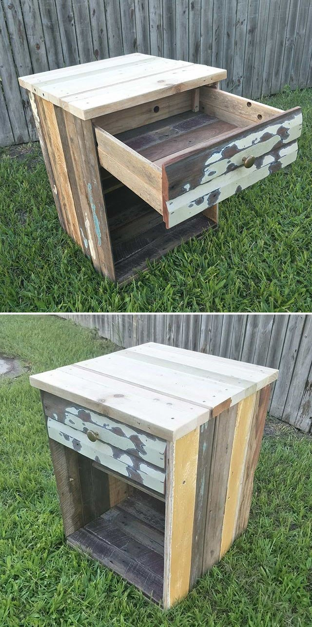Pallet storage drawers ideas