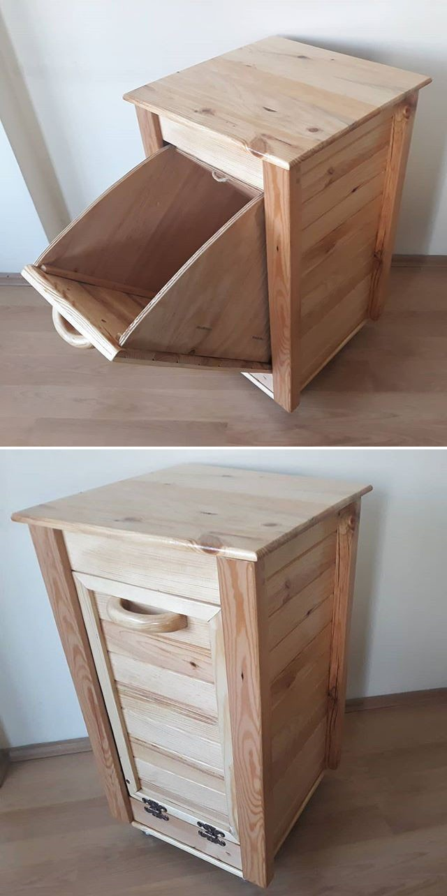 Pallet storage bin ideas