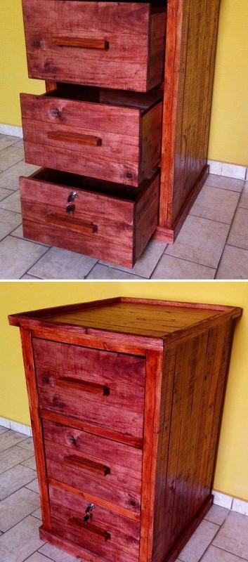 Pallet storage drawers ideas