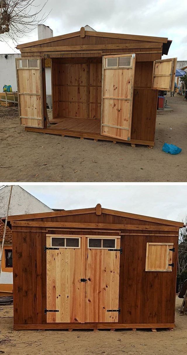 Pallet outdoor shed ideas