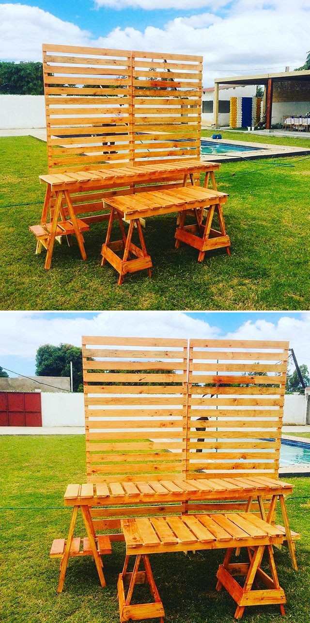 Pallet outdoor table furniture  ideas
