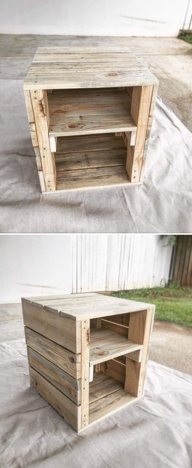 Pallet storage cabinet projects