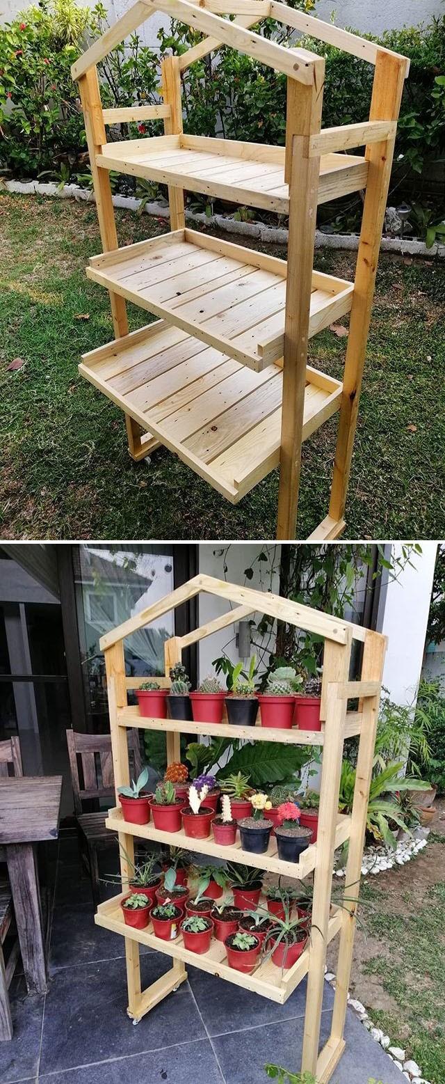 pallet shelf furniture ideas