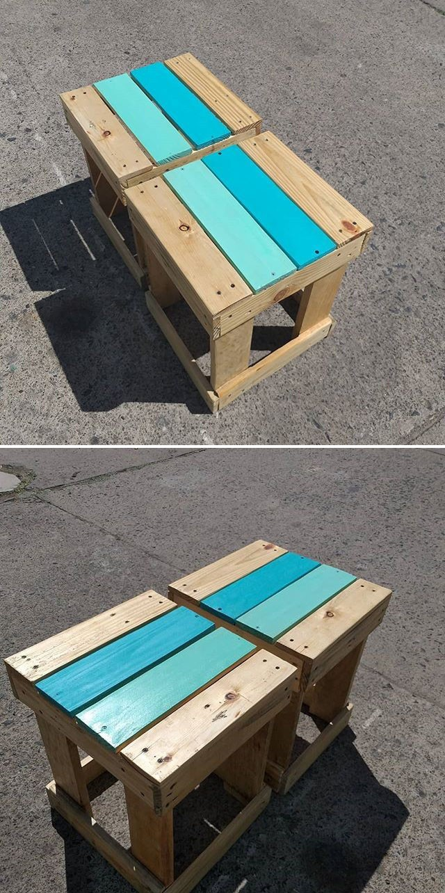 Pallet stool furniture ideas