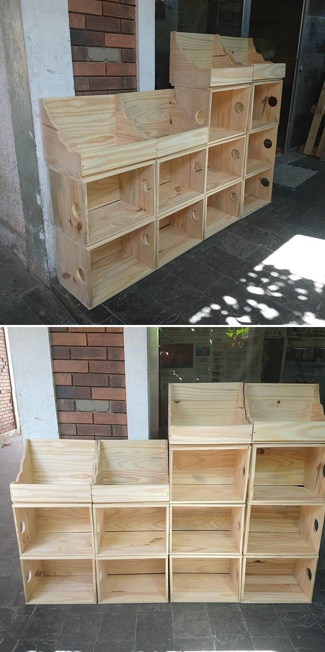 Pallet storage shelf ideas