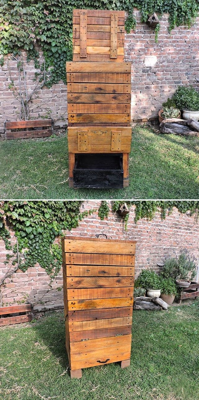 Pallet storage cabinet ideas