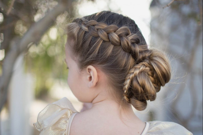Messy Bun Little Girls' Hairstyles For Your Princess