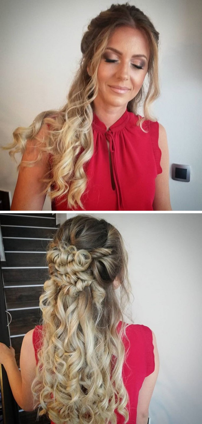 Stylish and Quick Long Curly Hairstyles