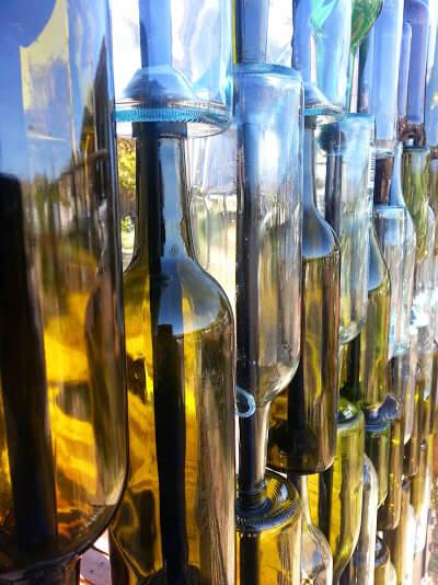 Wine Bottles Wall Idea