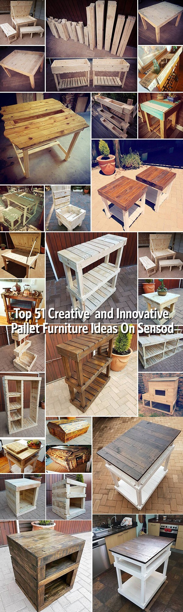 Top 51 Creative and Innovative Pallet Furniture Ideas On Sensod