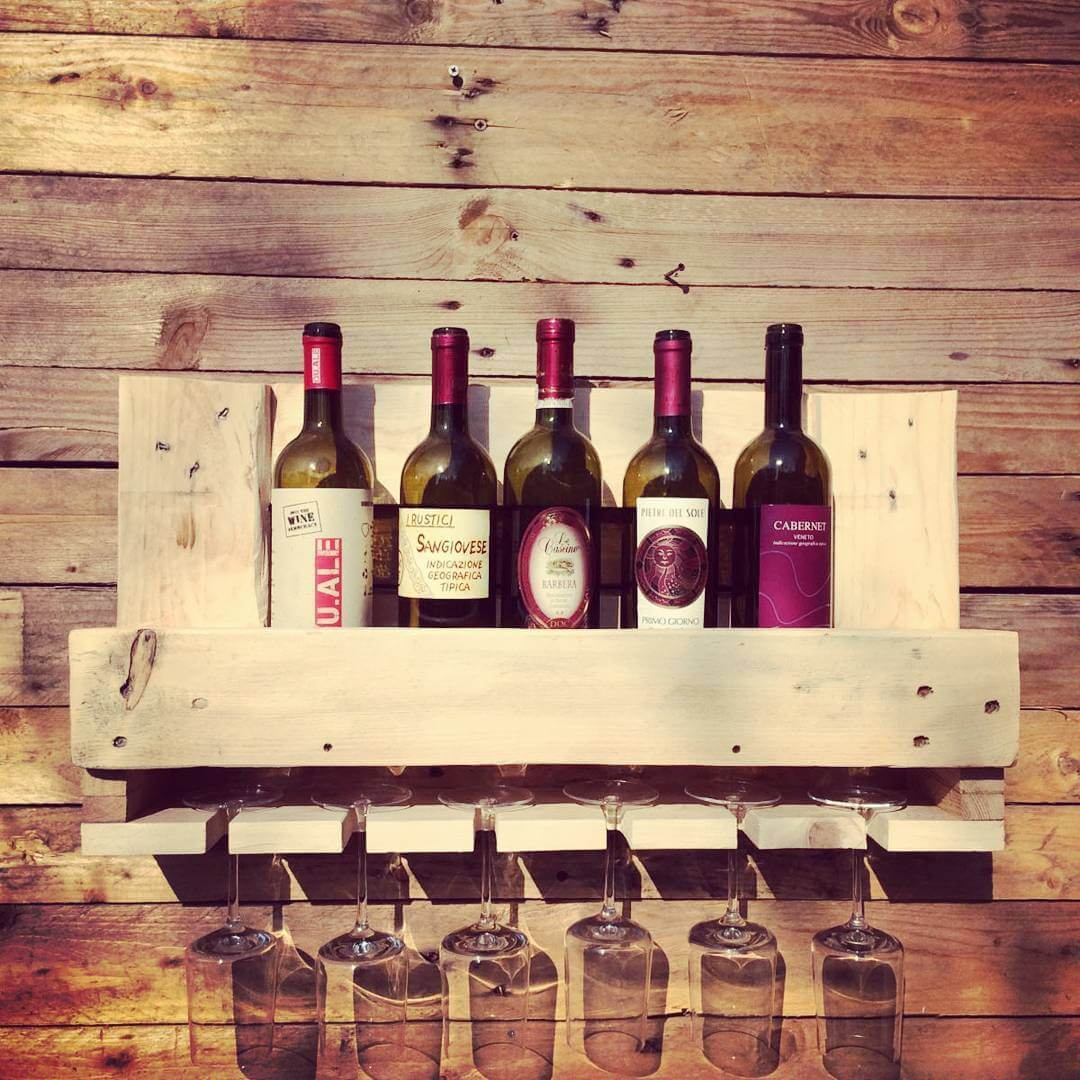 Wine shelf designs for less spacious places