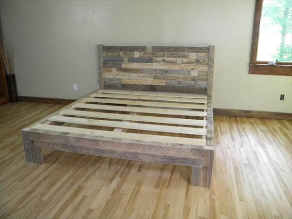 9 easy diy wooden pallets bed frame ideas for home - Wooden Crate Bed Frame