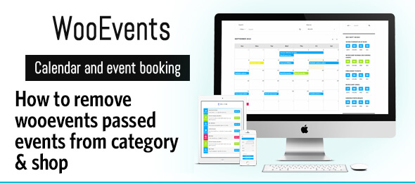 How to remove Wooevents passed events from category & shop pages